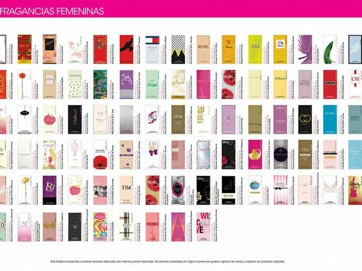 Lista de fragancias de Millanel femeninas 2020